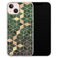 Leuke Telefoonhoesjes iPhone 13 siliconen hoesje - Green cubes