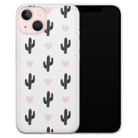 Leuke Telefoonhoesjes iPhone 13 siliconen hoesje - Cactus love