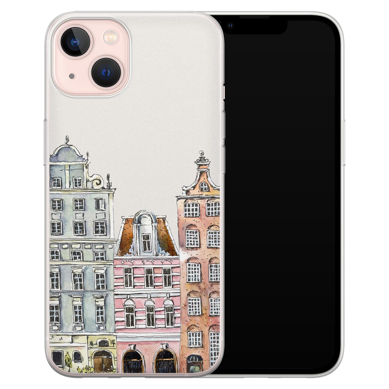 Leuke Telefoonhoesjes iPhone 13 siliconen hoesje - Grachtenpandjes