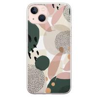 Leuke Telefoonhoesjes iPhone 13 siliconen hoesje - Abstract print