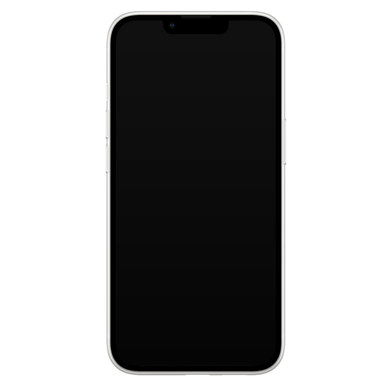 Leuke Telefoonhoesjes iPhone 13 siliconen hoesje - Abstract gezicht lijnen