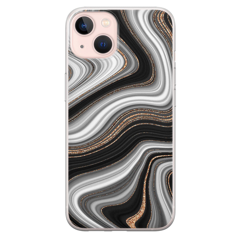 Leuke Telefoonhoesjes iPhone 13 siliconen hoesje - Abstract waves