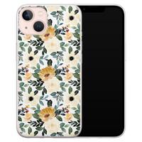 Leuke Telefoonhoesjes iPhone 13 siliconen hoesje - Lovely flower