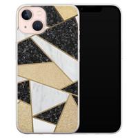 Leuke Telefoonhoesjes iPhone 13 siliconen hoesje - Goud abstract