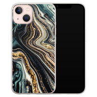 Leuke Telefoonhoesjes iPhone 13 siliconen hoesje - Marmer swirl