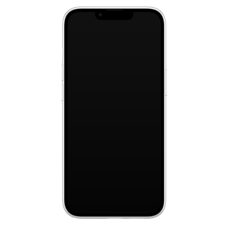 Leuke Telefoonhoesjes iPhone 13 siliconen hoesje - Marmer zwart goud