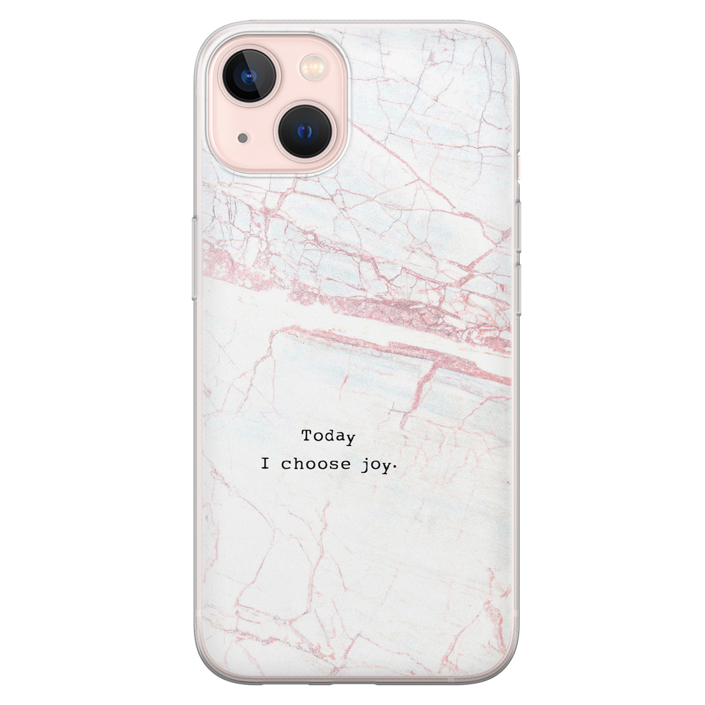 Leuke Telefoonhoesjes iPhone 13 siliconen hoesje - Today I choose joy