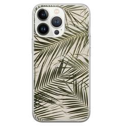 Leuke Telefoonhoesjes iPhone 13 Pro siliconen hoesje - Leave me alone