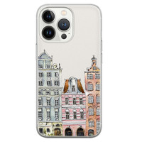 Leuke Telefoonhoesjes iPhone 13 Pro siliconen hoesje - Grachtenpandjes