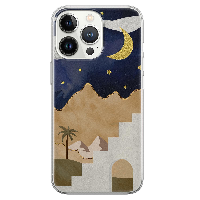 Leuke Telefoonhoesjes iPhone 13 Pro siliconen hoesje - Desert night