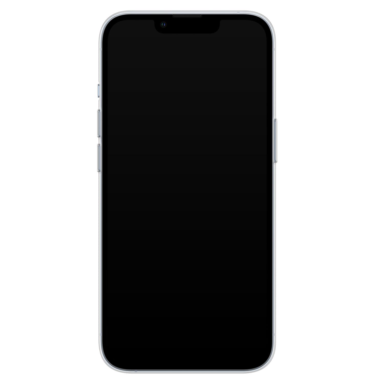 Leuke Telefoonhoesjes iPhone 13 Pro siliconen hoesje - Luipaard zigzag