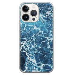 Leuke Telefoonhoesjes iPhone 13 Pro siliconen hoesje - Ocean blue