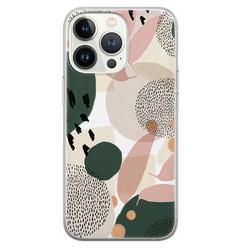 Leuke Telefoonhoesjes iPhone 13 Pro siliconen hoesje - Abstract print