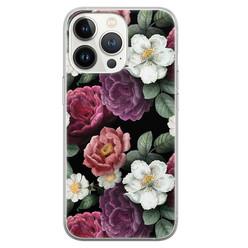 Leuke Telefoonhoesjes iPhone 13 Pro siliconen hoesje - Bloemenliefde
