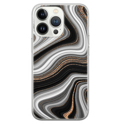 Leuke Telefoonhoesjes iPhone 13 Pro siliconen hoesje - Abstract waves