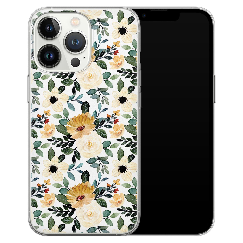 Leuke Telefoonhoesjes iPhone 13 Pro siliconen hoesje - Lovely flower