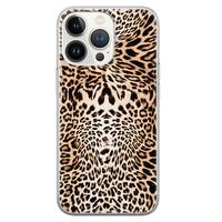 Leuke Telefoonhoesjes iPhone 13 Pro siliconen hoesje - Wild animal