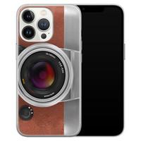 Leuke Telefoonhoesjes iPhone 13 Pro siliconen hoesje - Vintage camera