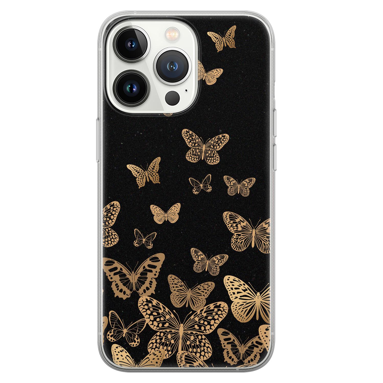 Leuke Telefoonhoesjes iPhone 13 Pro siliconen hoesje - Vlinders