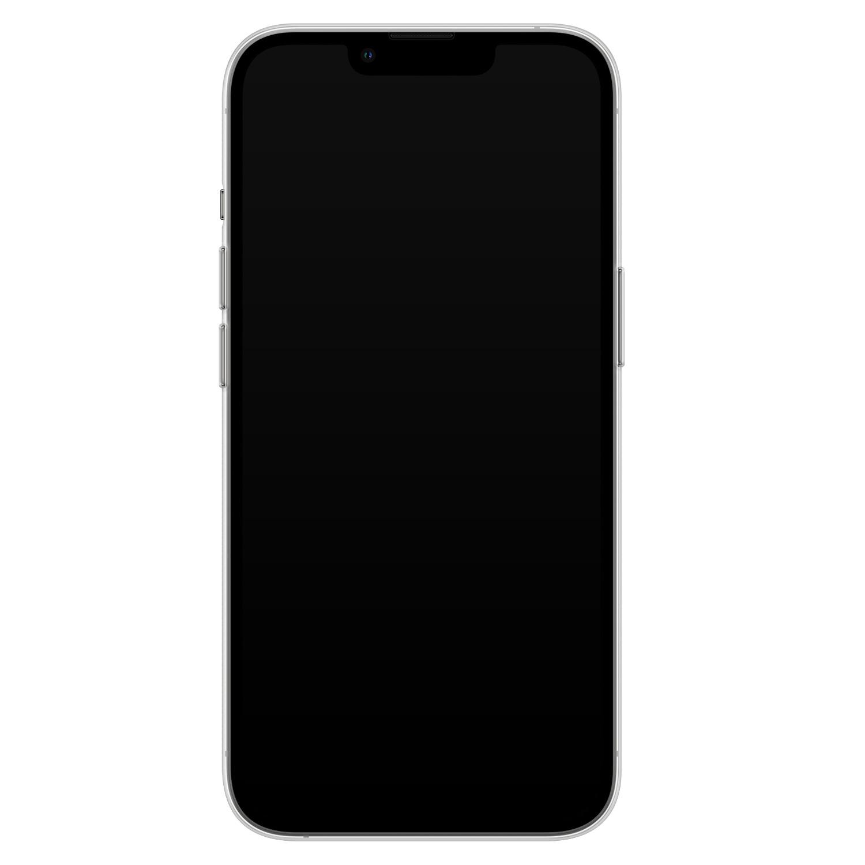 Leuke Telefoonhoesjes iPhone 13 Pro siliconen hoesje - Marmer roze grijs