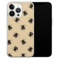 Leuke Telefoonhoesjes iPhone 13 Pro siliconen hoesje - Bee happy