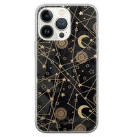 Leuke Telefoonhoesjes iPhone 13 Pro siliconen hoesje - Sun, moon, stars