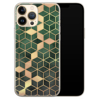 Leuke Telefoonhoesjes iPhone 13 Pro Max siliconen hoesje - Green cubes