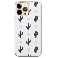 Leuke Telefoonhoesjes iPhone 13 Pro Max siliconen hoesje - Cactus love