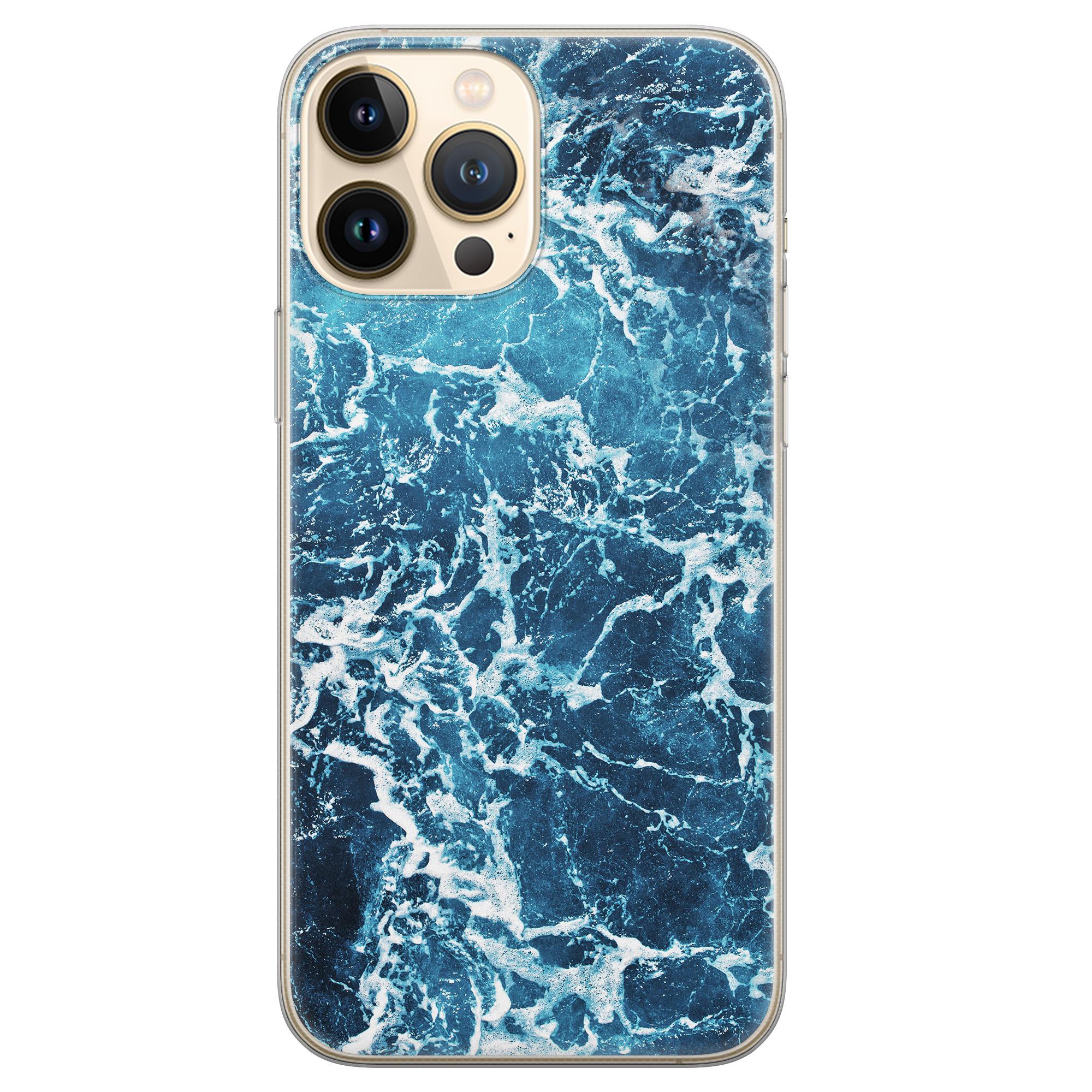 Leuke Telefoonhoesjes iPhone 13 Pro Max siliconen hoesje - Ocean blue