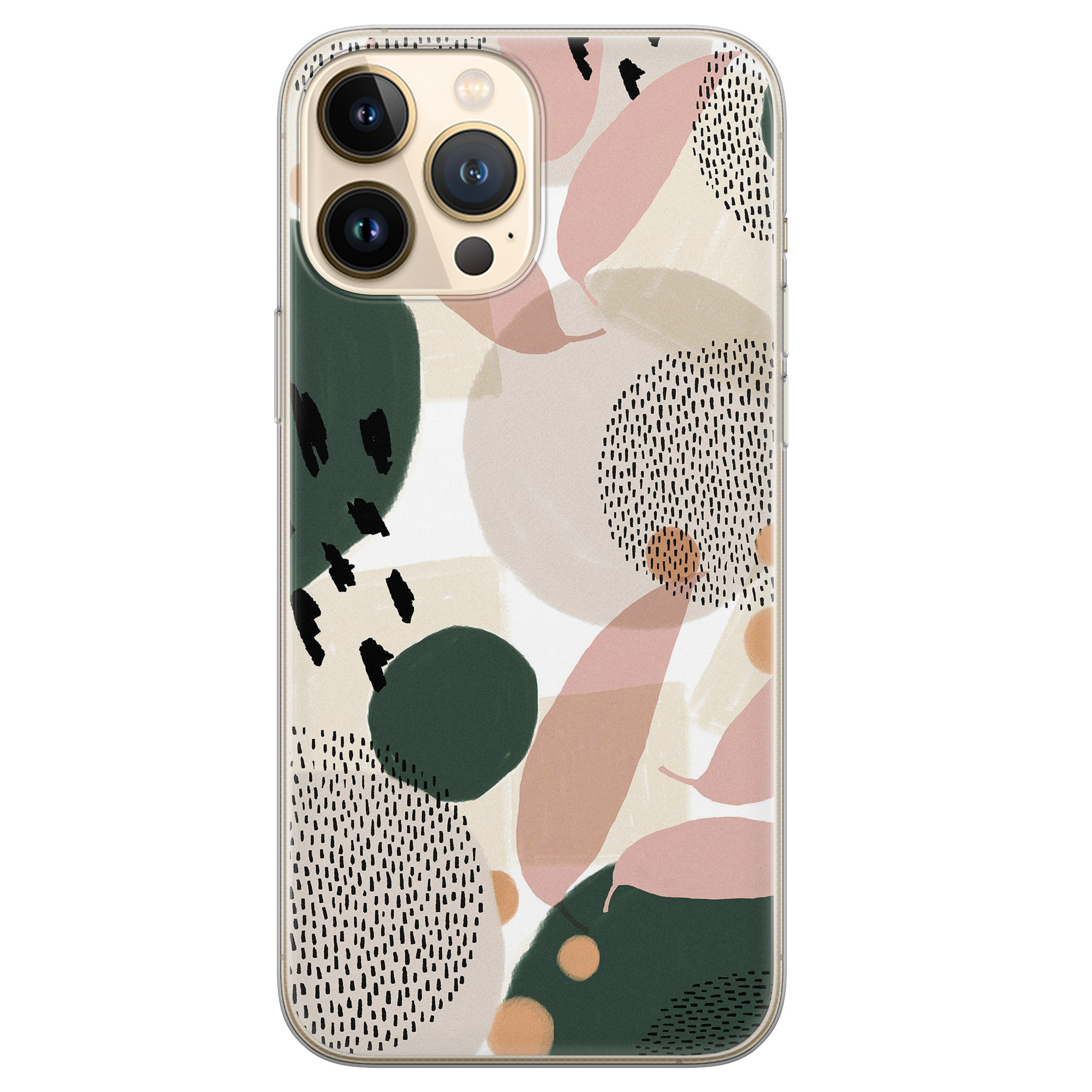Leuke Telefoonhoesjes iPhone 13 Pro Max siliconen hoesje - Abstract print