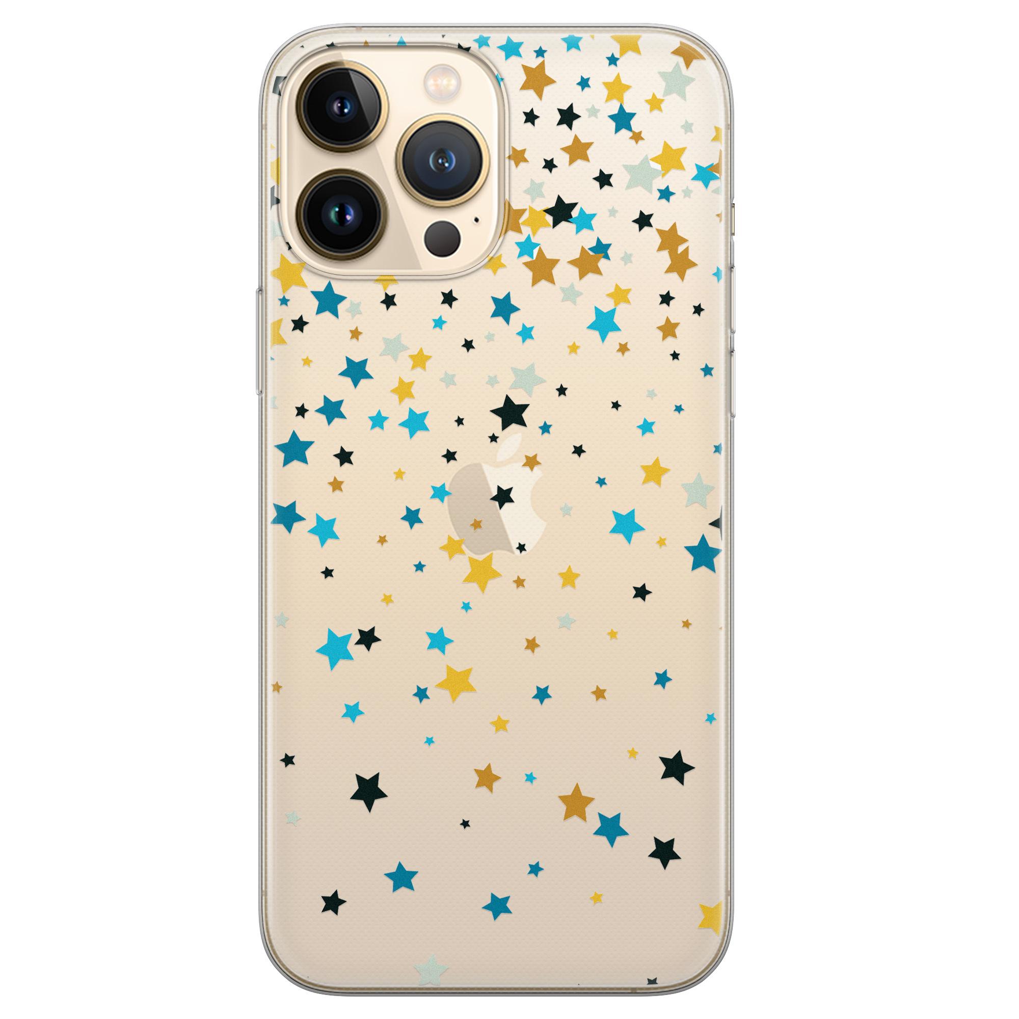 Leuke Telefoonhoesjes iPhone 13 Pro Max siliconen hoesje - Sterretjes