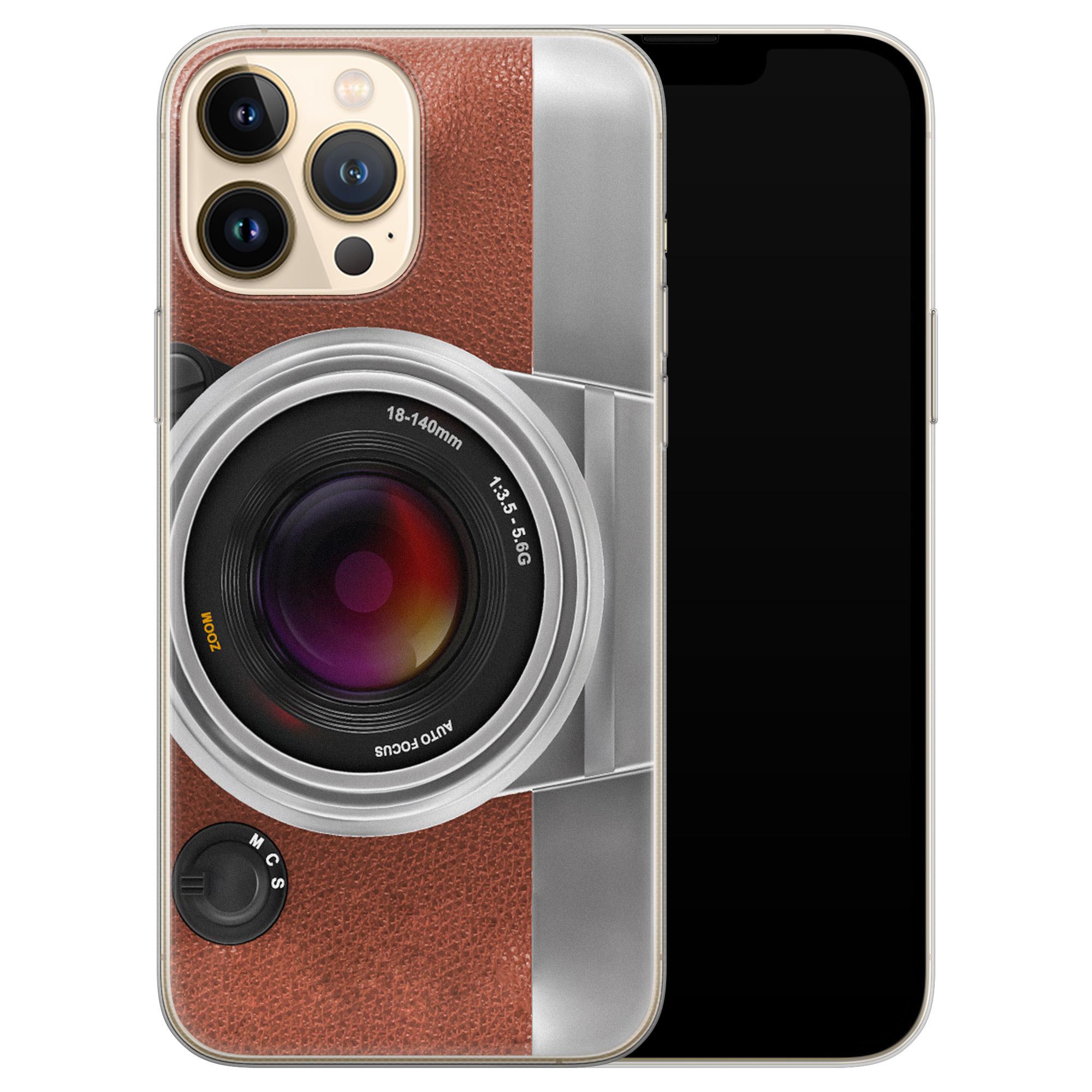 Leuke Telefoonhoesjes iPhone 13 Pro Max siliconen hoesje - Vintage camera