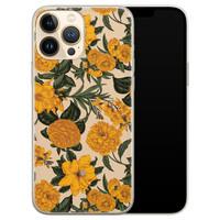 Leuke Telefoonhoesjes iPhone 13 Pro Max siliconen hoesje - Retro flowers