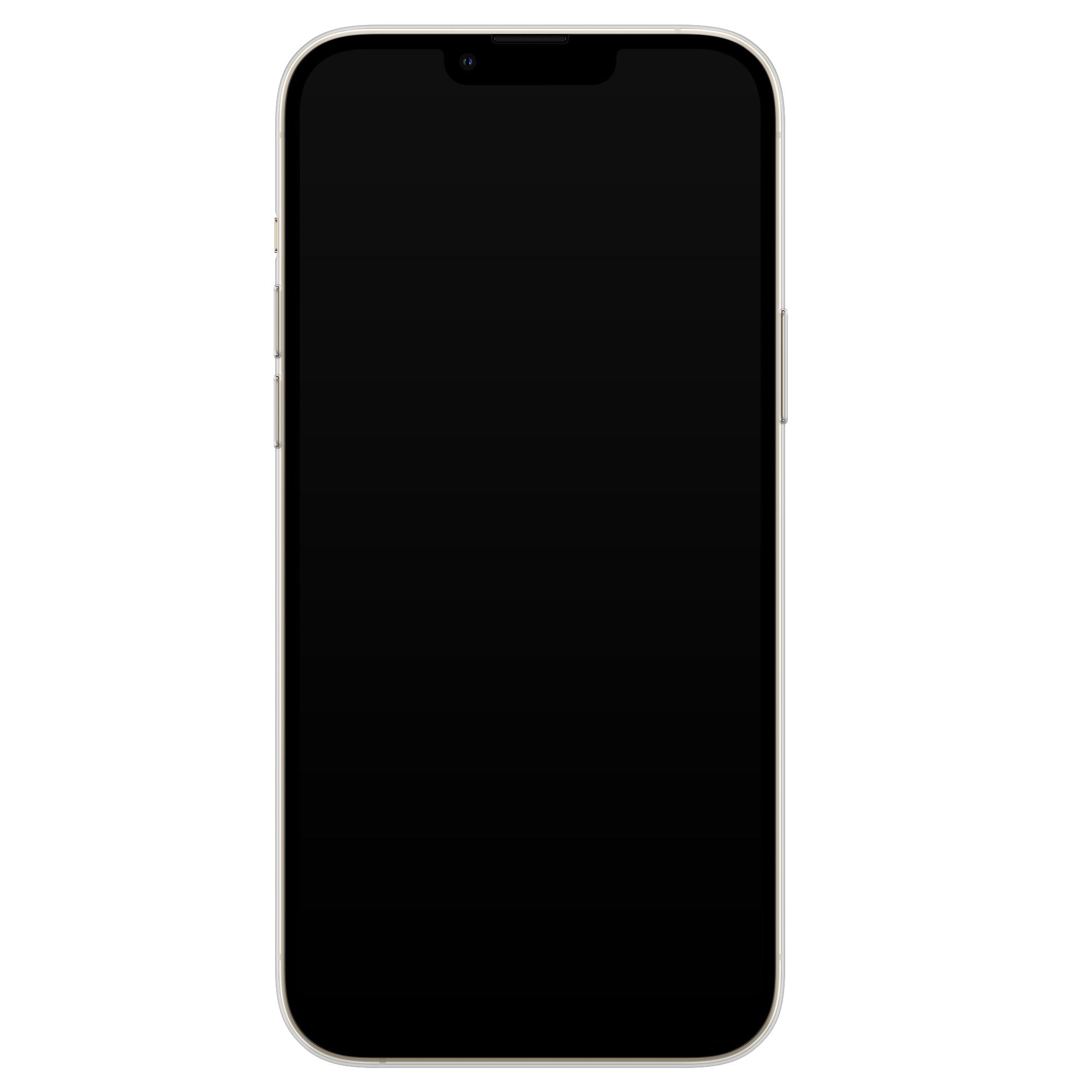 Leuke Telefoonhoesjes iPhone 13 Pro Max siliconen hoesje - Bee happy