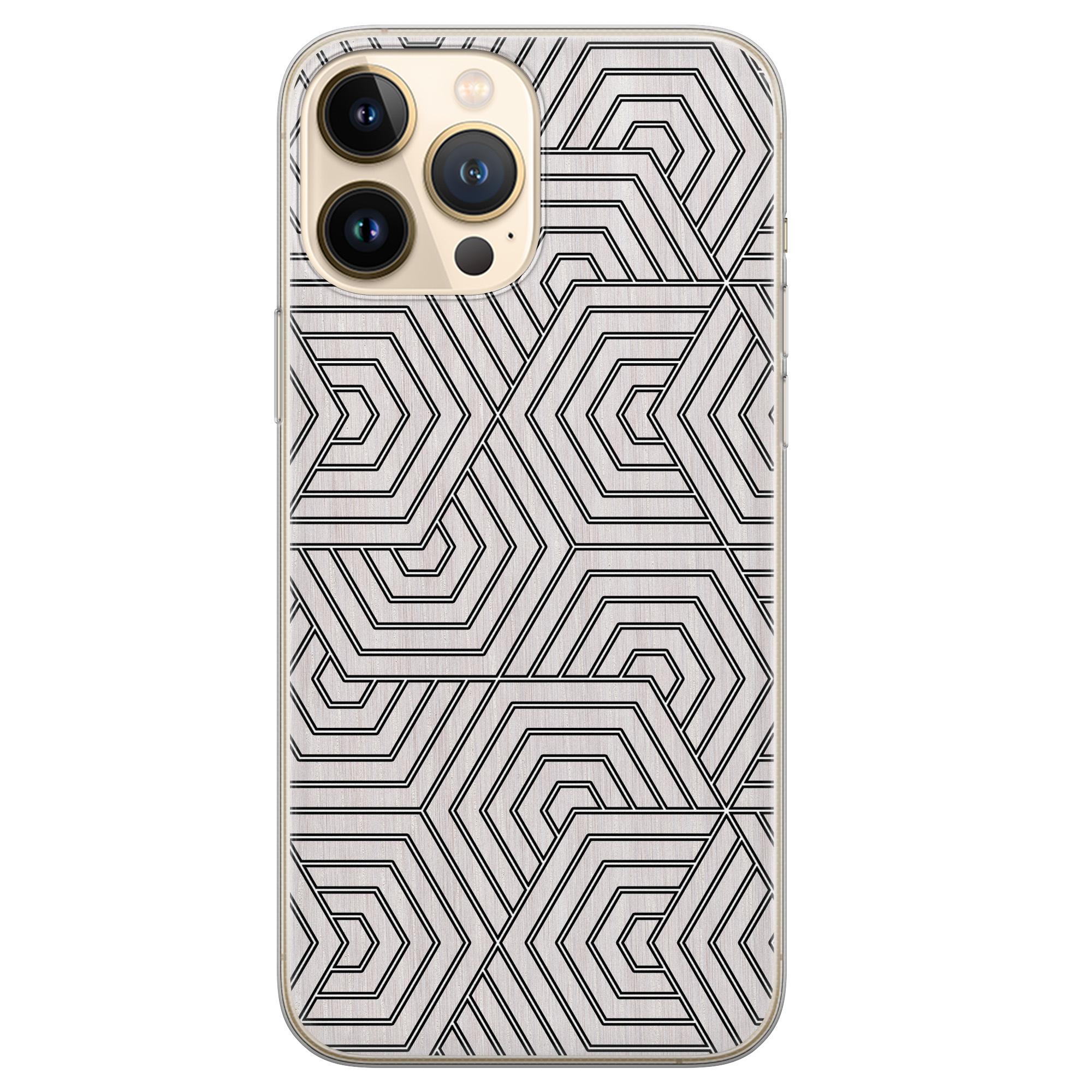 Leuke Telefoonhoesjes iPhone 13 Pro Max siliconen hoesje - Geometrisch