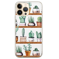 Leuke Telefoonhoesjes iPhone 13 Pro Max siliconen hoesje - Cactus
