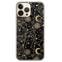 Leuke Telefoonhoesjes iPhone 13 Pro Max siliconen hoesje - Sun, moon, stars
