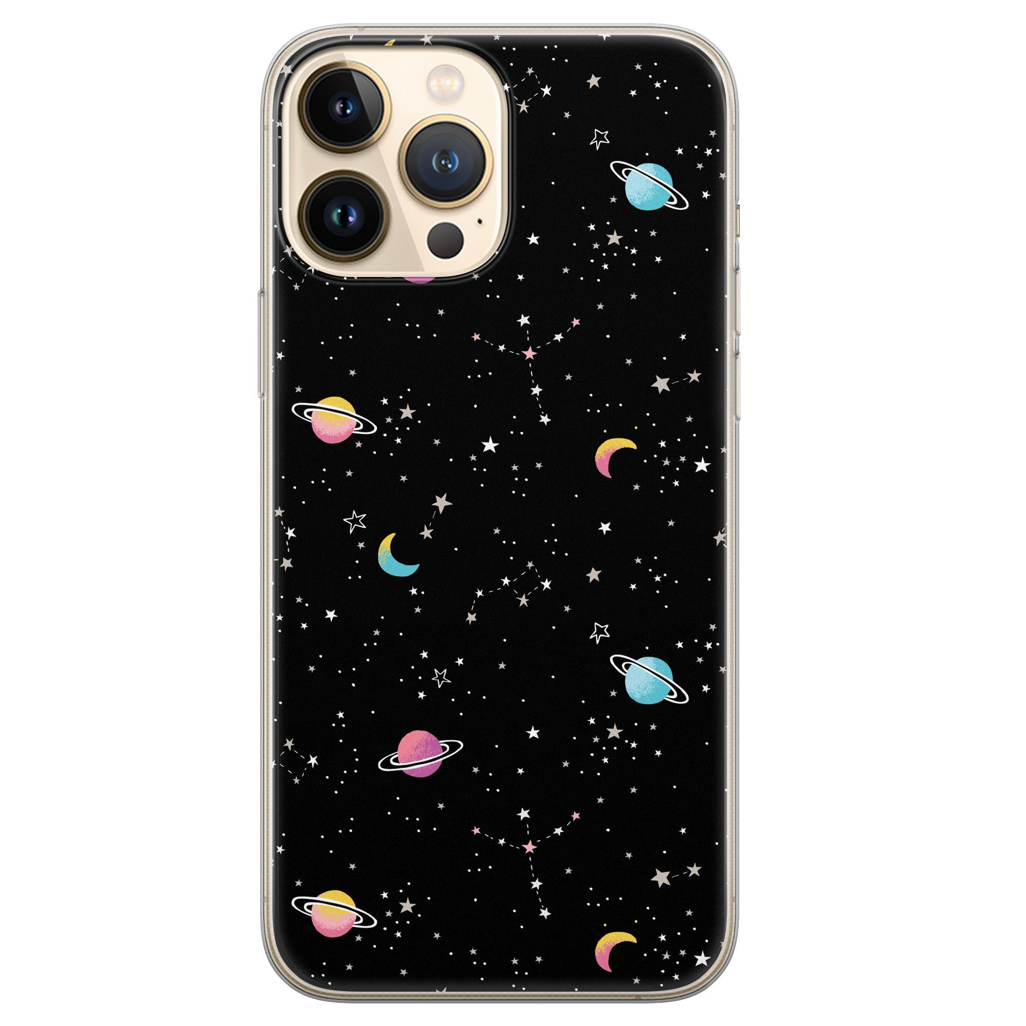 Leuke Telefoonhoesjes iPhone 13 Pro Max siliconen hoesje - Universum