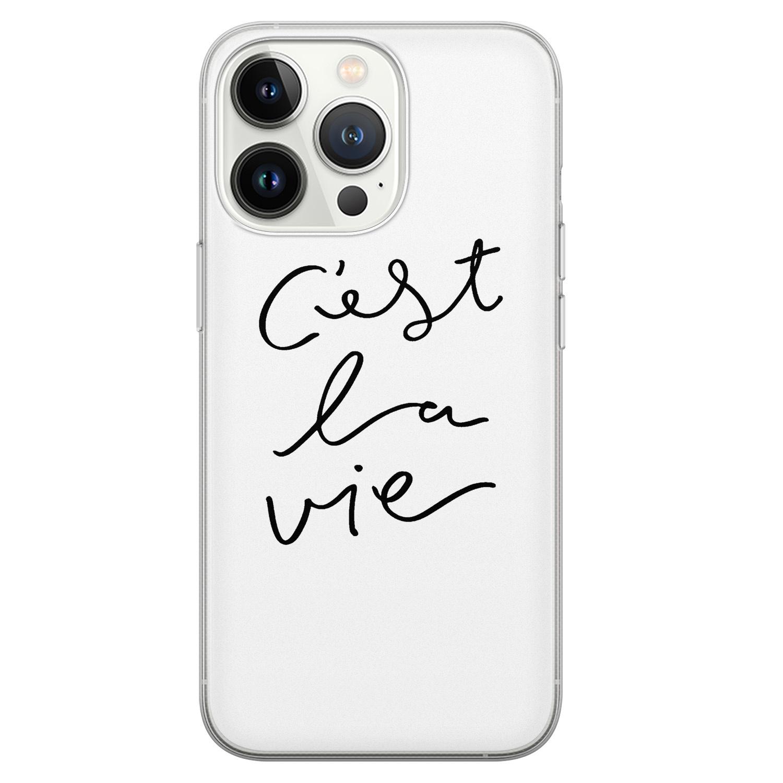 Leuke Telefoonhoesjes iPhone 13 Pro siliconen hoesje - C'est la vie