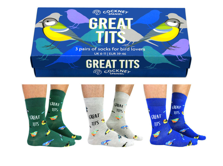 ODDsocks Great Tits - Box by ODDsocks