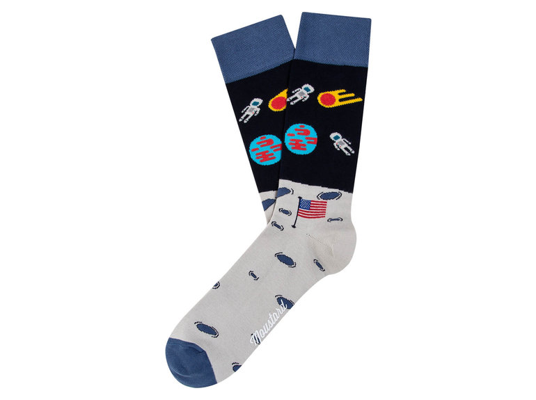 Moustard Moon Landing Astronaut Socks by Moustard