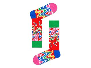 Psychedelic Candy Cane Sock by Happy Socks