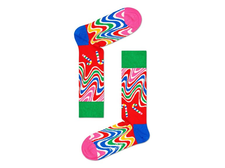 Happy Socks Psychedelic Candy Cane Sock by Happy Socks