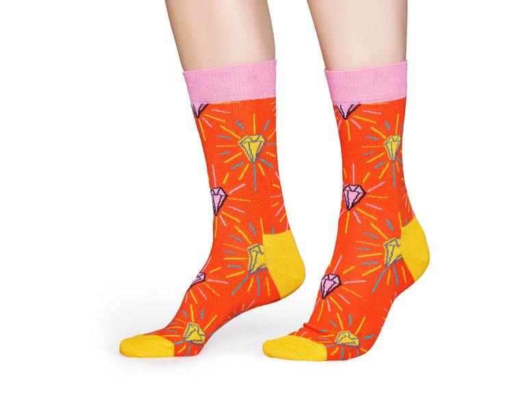 Happy Socks Pink Panther - Pink Plunk Plink Sock by Happy Socks