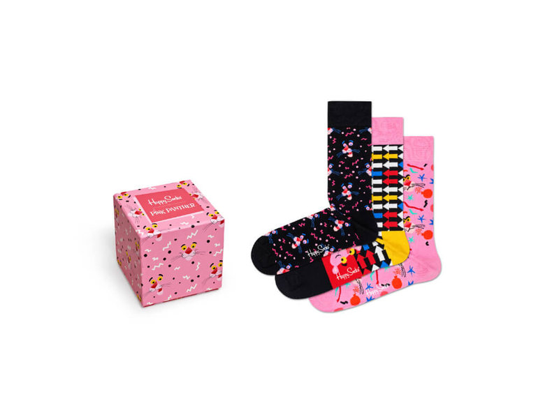 Happy Socks Pink Panther Giftbox 3-Pack by Happy Socks