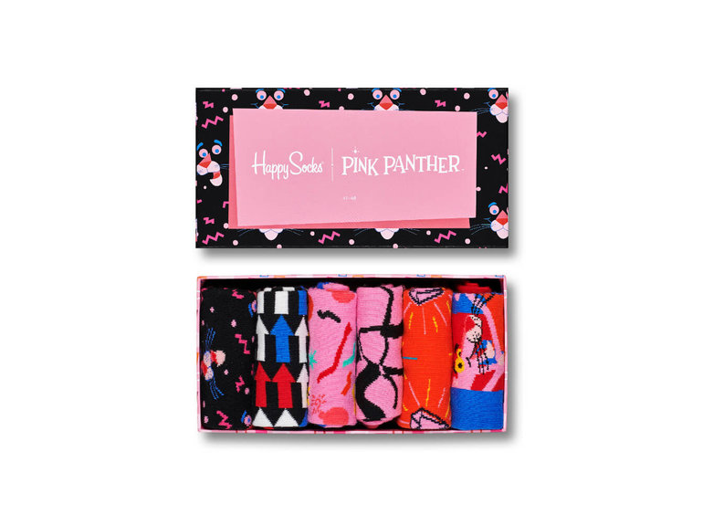 Happy Socks Pink Panther Giftbox 6-Pack by Happy Socks