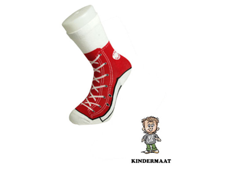 Silly Socks Sneakersok Kids - Rood by Silly Socks