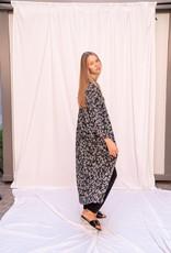 Happy 13 Kimono Violetta - Black print