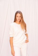 Happy 13 Pull Karla Short Sleeve Off White