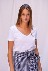 T-Shirt SS V-Neck - White